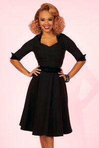 Pinup Couture Lorelei Black Swing Dress 102 10 22302 20170619 02
