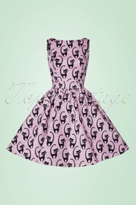 Lady V Kitty Tea Dress in Purple 102 29 21796 20170620 0002W