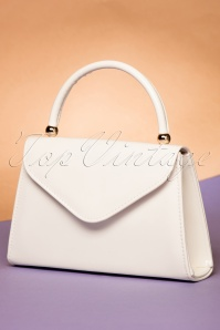 La Parisienne Flap Bag in White 212 50 22265 06202017 015W