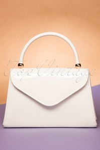 La Parisienne Flap Bag in White 212 50 22265 06202017 010W