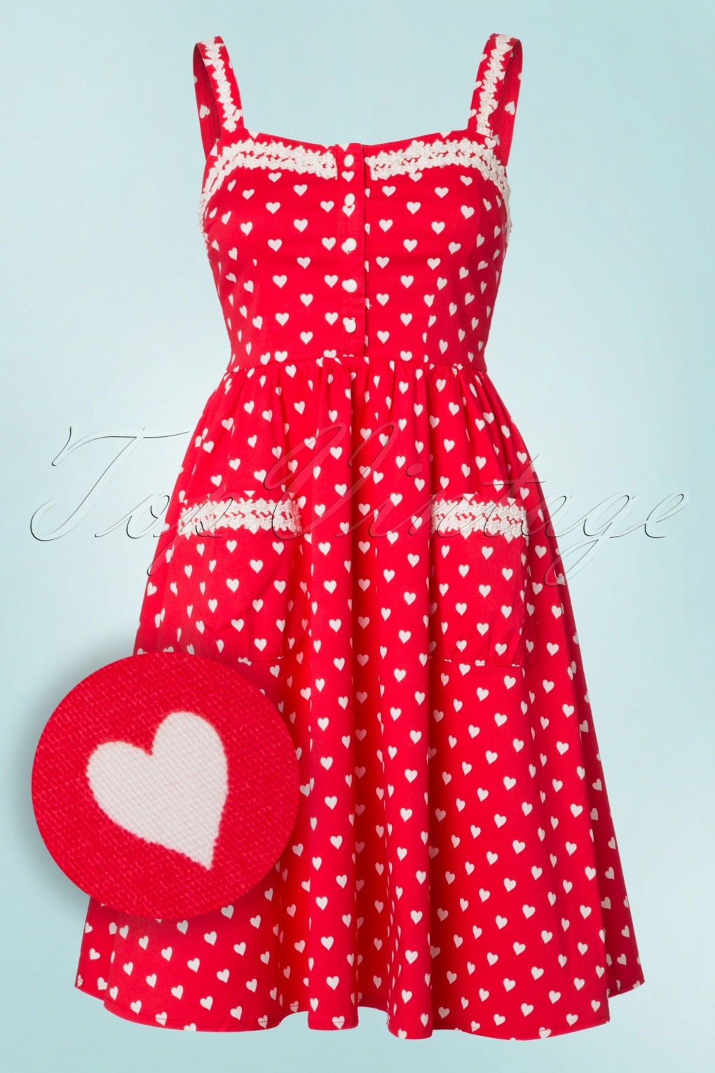 Vintage Inspired Clothing Stores 50s Corinna Polkadot Swing Dress in Bright Red £48.25 AT vintagedancer.com