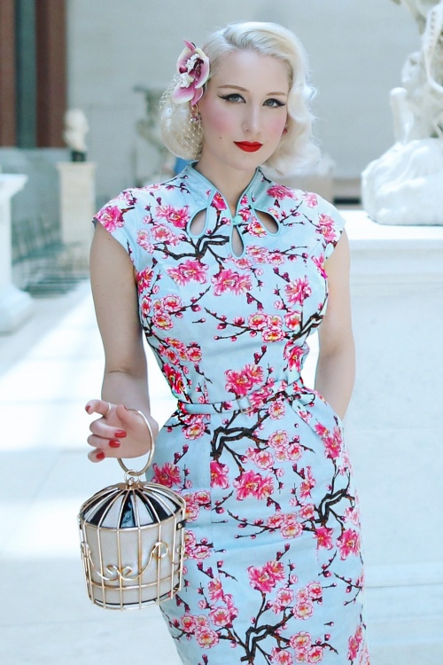 Dancing Days by Banned Blossom Alice Pencil Dress 100 39 17814 20160526 0013c