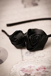 ZaZoo Thin Black Rose Hairband 208 10 22259 06272017 008W