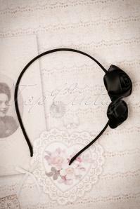 ZaZoo Thin Black Rose Hairband 208 10 22259 06272017 004W