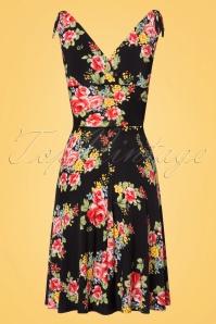 Vintage Chic 50s Grecian Floral Dress in Black 102 14 22409 20170630 0008w