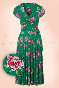 Vintage Chic Layla Emerald Green Swing Dress 102 49 22427 20170704 0007W1
