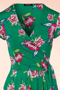 Vintage Chic Layla Emerald Green Swing Dress 102 49 22427 20170704 0007V