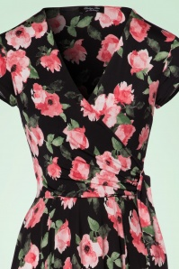 Vintage Chic Layla Swing Dress with Pink Roses 102 14 22428 20170704 0003V