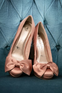 Tamaris Old Rose Satin Pumps 400 22 21944 07052017 028W