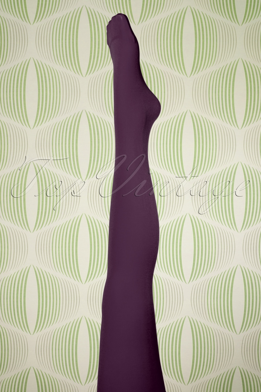 1960s Tights, Panty Hose, Stockings, Knee High Socks 60s Penelope Tights in Purple £11.78 AT vintagedancer.com