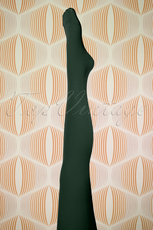 1960s Tights, Panty Hose, Stockings, Knee High Socks 60s Penelope Tights in Green £11.78 AT vintagedancer.com