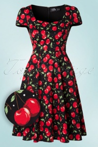 Dolly and Dotty Claudia Flirty Black Cherry Dress 102 14 18769 20160330 0006W1