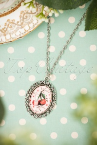 Sweet Cherry Pink Cherry Necklace 300 22 22422 07102017 014W