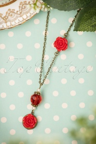 Sweet Cherry Red Pearl Rose Necklace 300 20 22423 07102017 008W