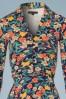King Louie Emmy Floral Dress in Inkblue 102 39 21204 20170710 0002V