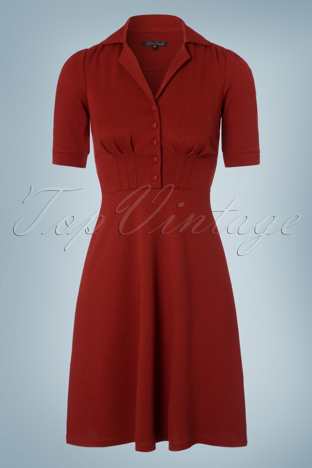 1940s Style Dresses and Clothing 40s Milano Diner Crepe Dress in Rio Red £96.49 AT vintagedancer.com