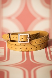70s Star Belt in Mustard