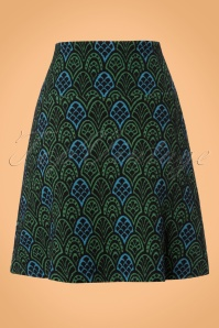 King Louie Border Skirt in Green and Blue 123 14 21305 20170710 0007W
