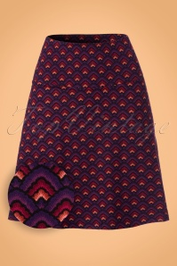 King louie Border Skirt Purple Pattern 123 69 21271 20170710 0004W1