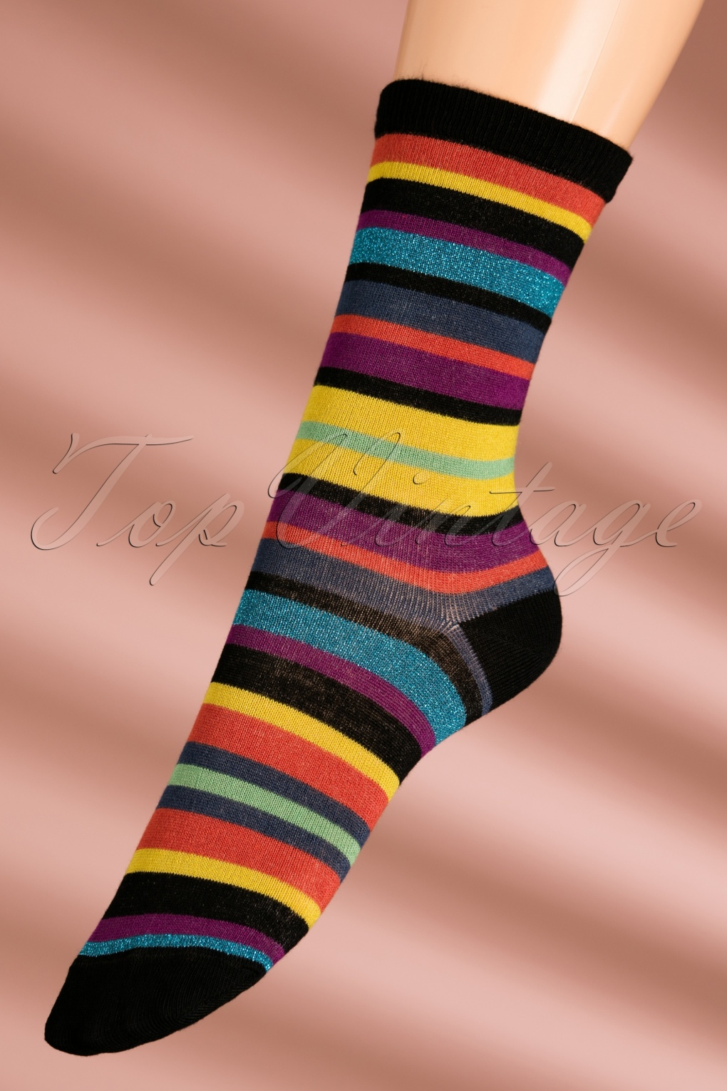 1960s Inspired Fashion: Recreate the Look 60s Lullaby Socks in Rio Red £11.36 AT vintagedancer.com