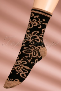 60s Razzle Dazzle Socks in Black