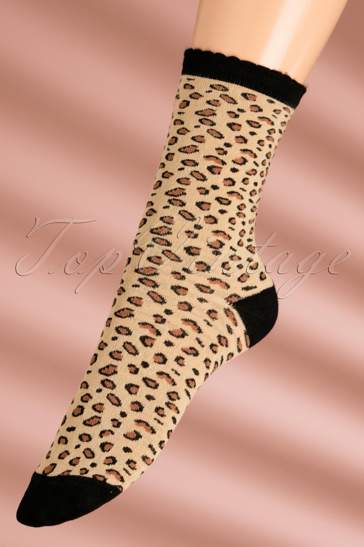Vintage Socks | 1920s, 1930s, 1940s, 1950s, 1960s History 60s Panther Socks in Black £11.78 AT vintagedancer.com