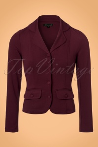 40s Milano Crepe Blazer Jacket in Porto Red