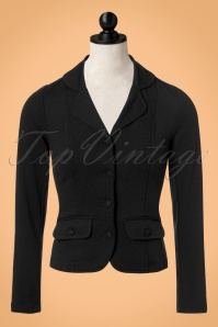 40s Milano Crepe Blazer Jacket in Black