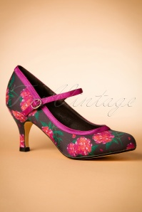 Lindy Bop Mary Jane floral Pumps 400 69 22430 07052017 010W