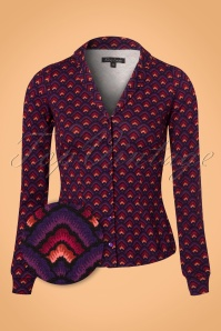 60s Patty Fuji Blouse in Majestic Purple