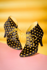 Lola Ramona Stiletto Black Yellow Bootie 430 14 21014 07122017 069W