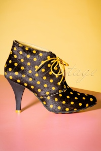 Lola Ramona Stiletto Black Yellow Bootie 430 14 21014 07122017 030W
