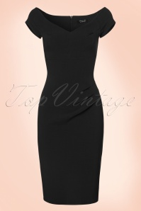 50s Candace Pencil Dress in Black