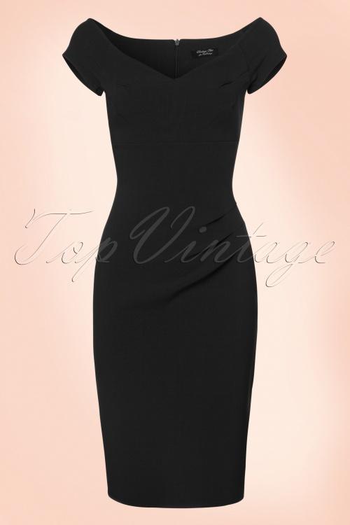 Vintage Chic Sweet heart crepe dress 100 20 20992 20170712 0003W