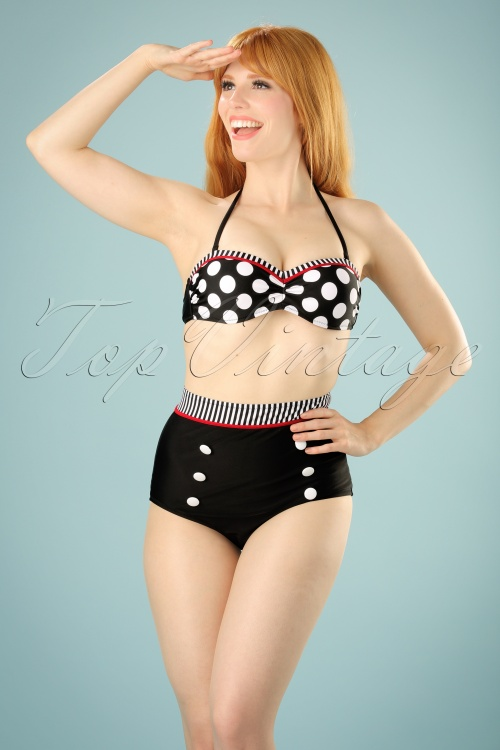 Bellissima Black White and Red Polkadot Bikini 22121 20170519 0006w
