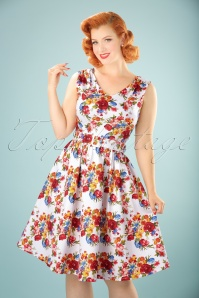 Dolly & Dotty Petal Swing Dress with Flowers 102 59 20742 20170529 1W