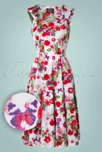 White Floral Swing Dress Hearts & Roses 102 59 17131 20151021 009W1