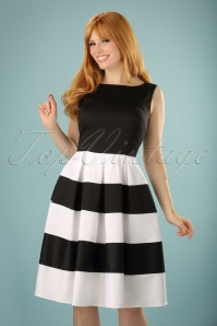 50s Anna Dress in Black and White