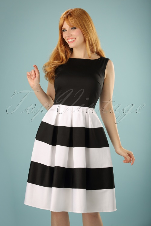 Dolly and Dotty Anna White Striped Swing Dress 102 50 17004 20150922 0016W