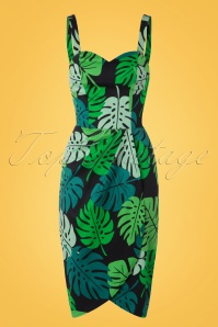 Collectif Clothing Mahina Tahiti Pencil Dress 100 14 17651 20160404 0005W