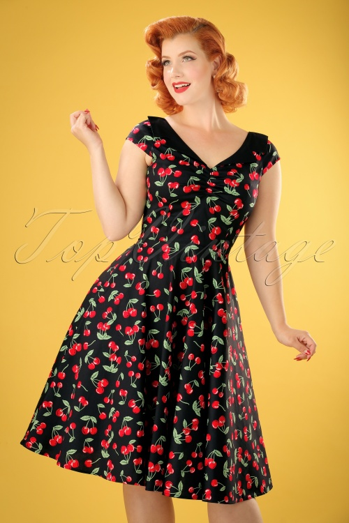 Bunny 50s Cherry Pop Swing Dress 104 14 14680 20150319 0013W