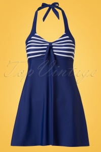 Bellissima Swimdress in Blue and White 162 39 22123 20170529 0004W