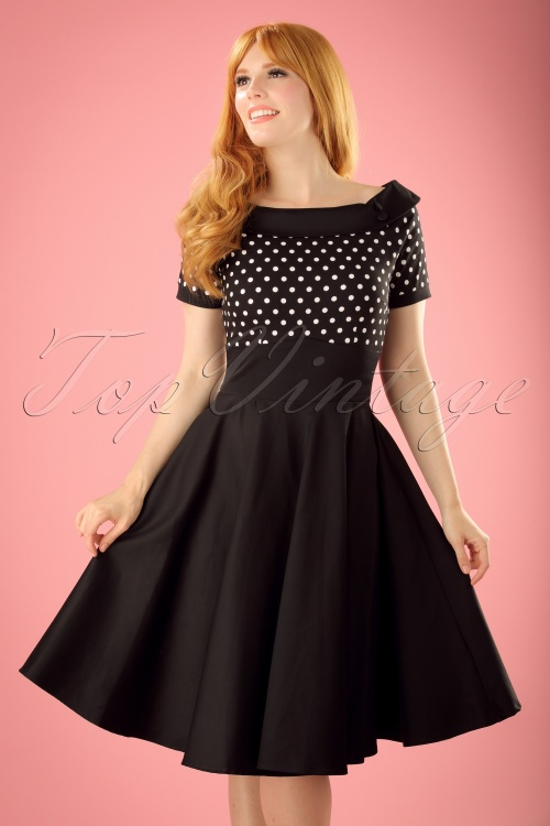 9e6965c623e8a Dolly   Dotty Darlene Polkadot Swing Dress 102 14 19515 20160726 00201W