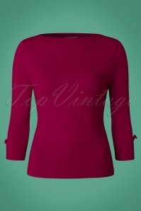 Banned Addicted Boatneck Bow Top in Magenta 113 22 22286 20151202 0003w