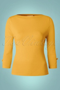 50s Addicted Sweater in Mustard