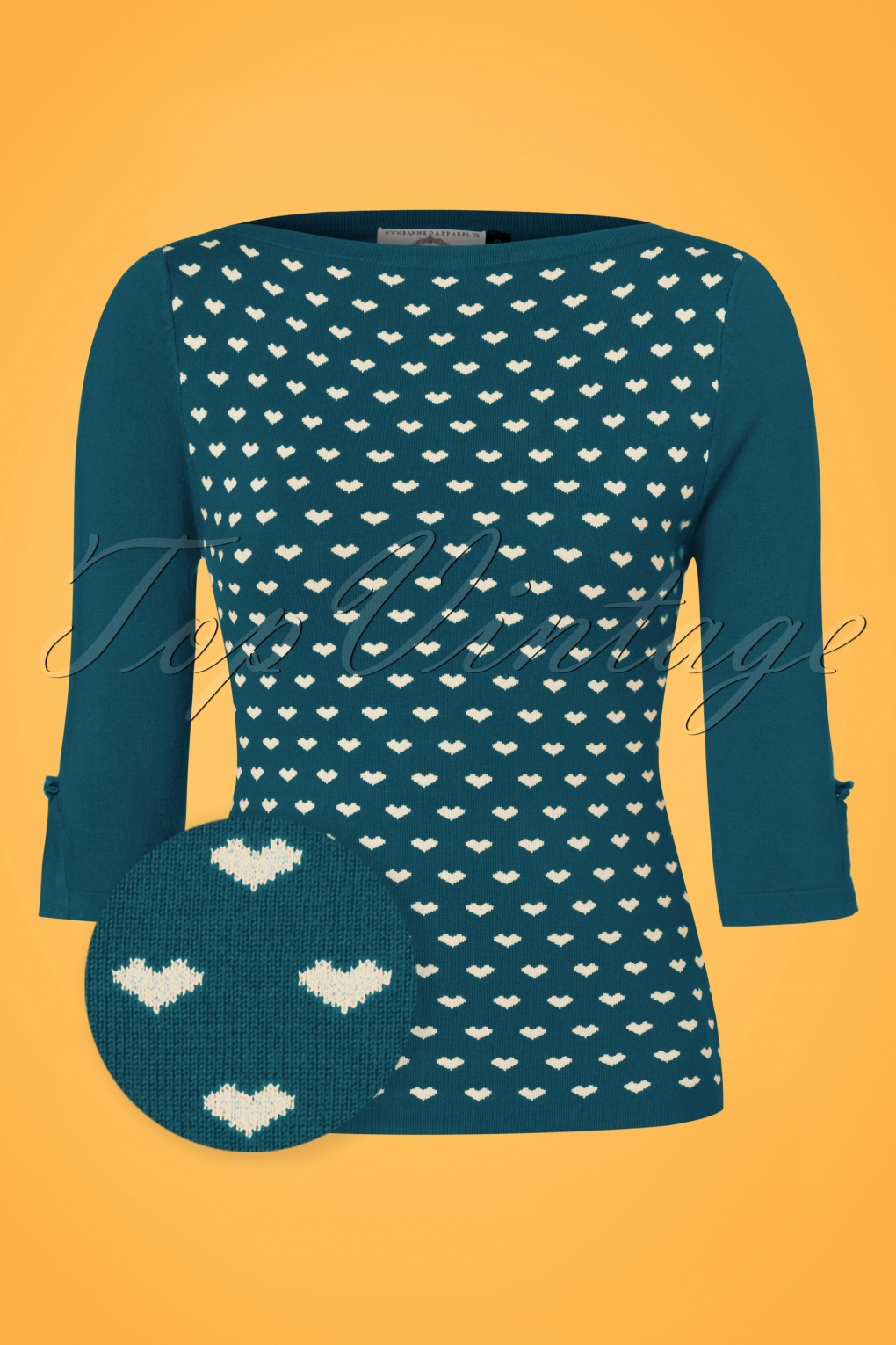 1950s Style Sweaters, Crop Cardigans, Twin Sets 60s Charming Heart Knit Sweater in Teal £36.08 AT vintagedancer.com