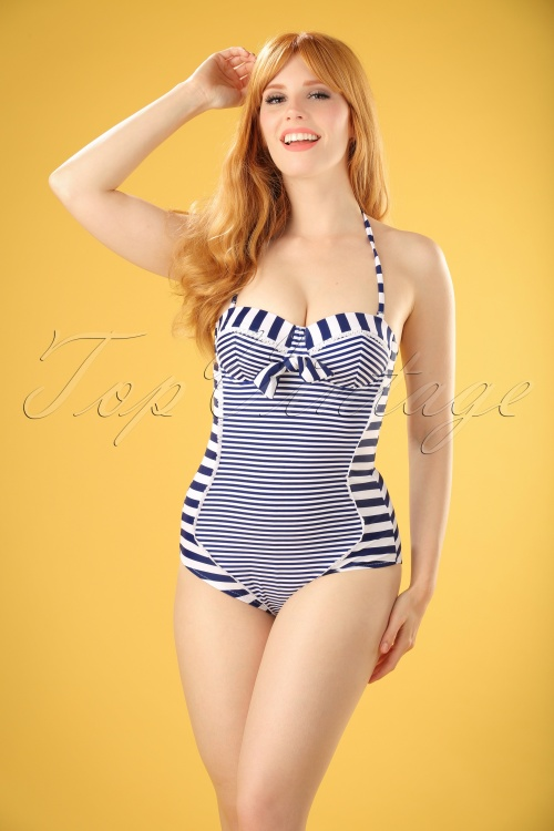 Bellissima Blue and White Striped Bathing Suit 161 27 21894 20170207 0016W