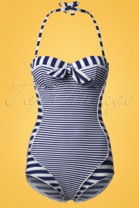 Bellissima Blue and White Striped Bathing Suit 161 27 21894 20170207 0003W