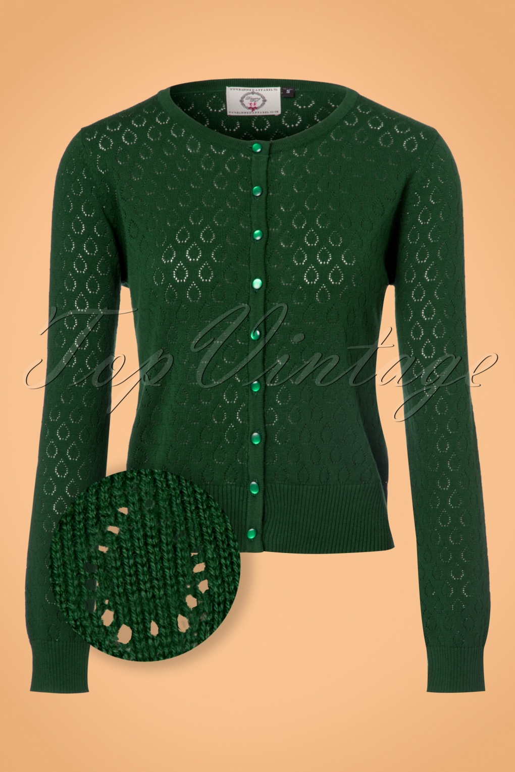 1950s Style Sweaters, Crop Cardigans, Twin Sets 50s Watch Out Cardigan in Forest Green £36.08 AT vintagedancer.com