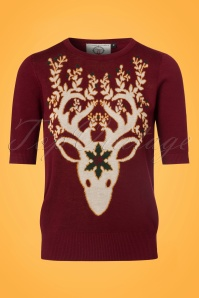 Dancing Days by Banned Ren Deer Sweater in Bordeaux 113 20 22355 20170717 0003w